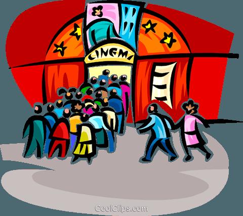 cinema Royalty Free Vector Clip Art illustration.