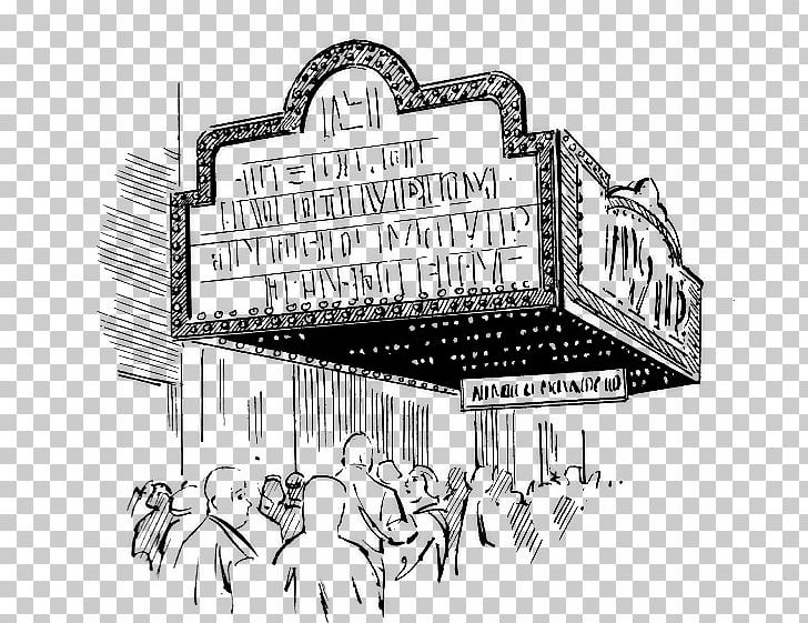 Cinema Black And White Theater Theatre PNG, Clipart.