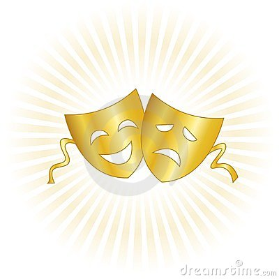 Theater Masks Royalty Free Stock Photography.