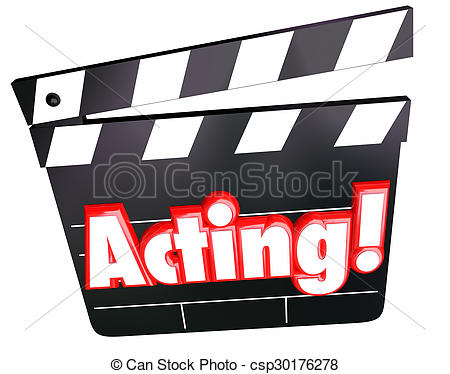Picture of Acting Word Movie Film Cinema Clapper Board Performing.