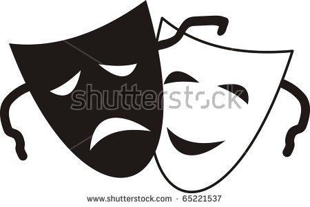 Drama Masks Stock Images, Royalty.