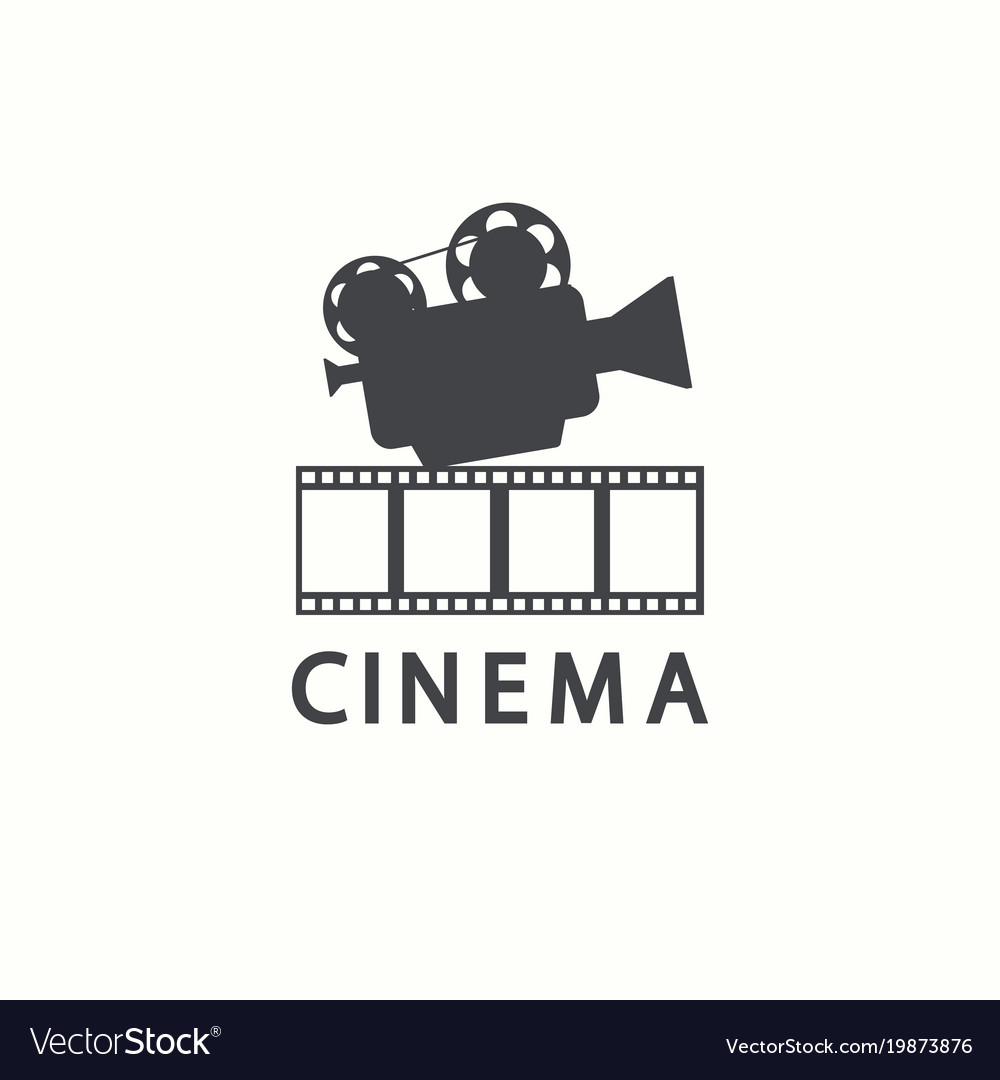 Cinema logo movie emblem template.