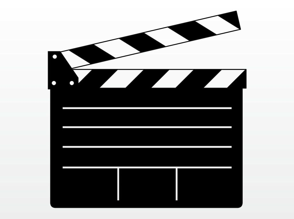 movie clapper clip art.