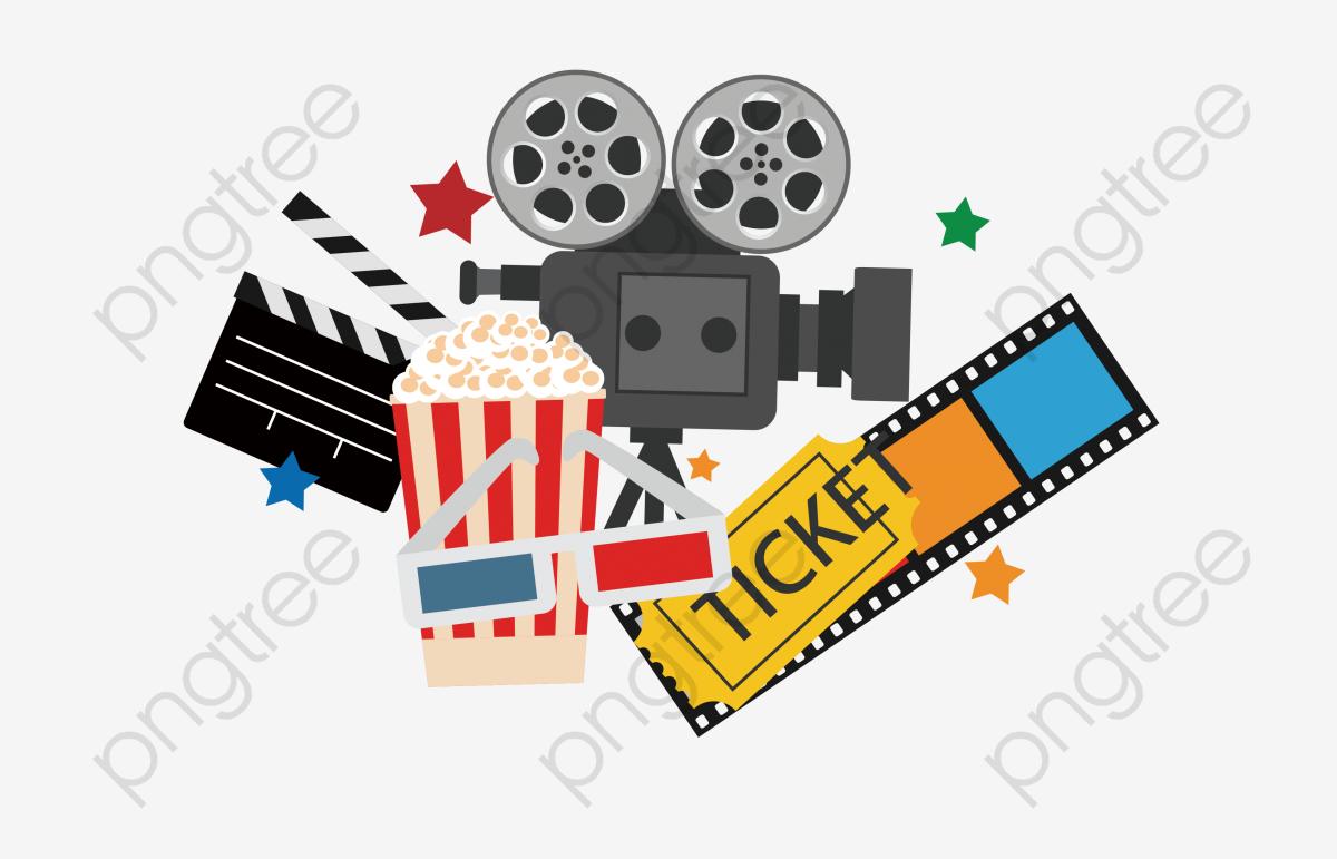 Creative Cinema, Cinema Clipart, Popcorn, Film PNG Transparent Image.