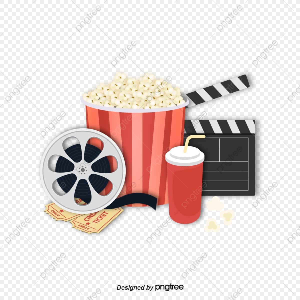 Cinema Popcorn Vector Png, Vector Popcorn, Gourmet Popcorn, Cinema.