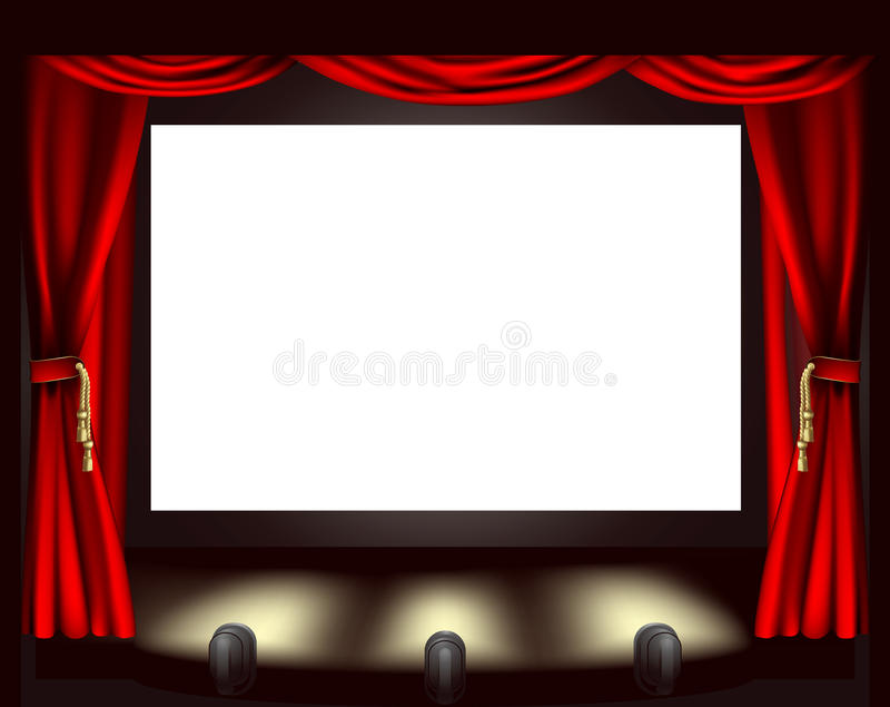 Cinema Screen Stock Illustrations.