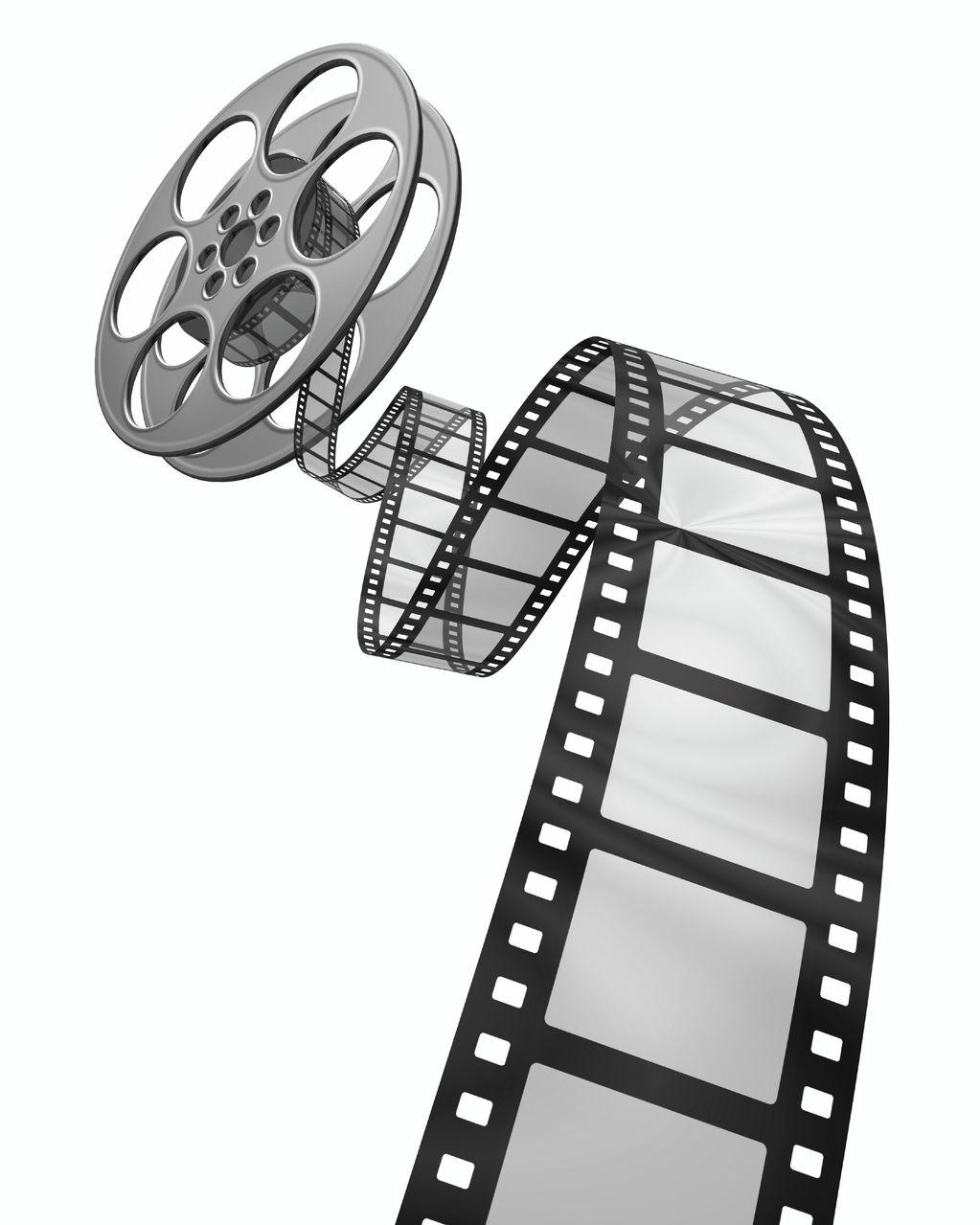 Vector film strip clipart.