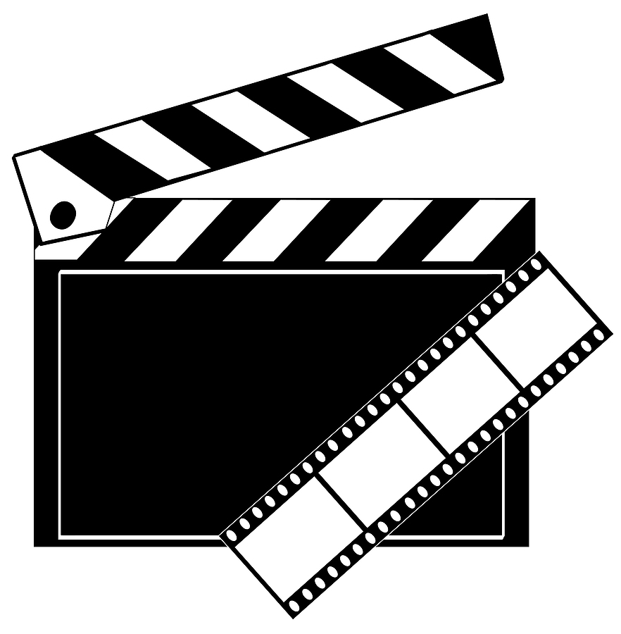 Clip Art Movie Camera And Film Clipart.