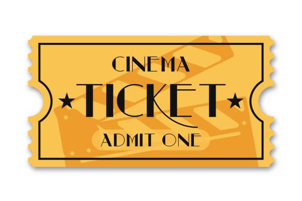 Best Movie Ticket Illustrations, Royalty.