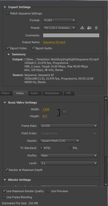 Premiere Pro :: 2:35:1 :: Cinemascope/Anamorphic Crop Settings & PSD.