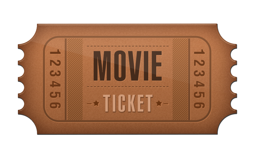 Ticket Cinema Film.