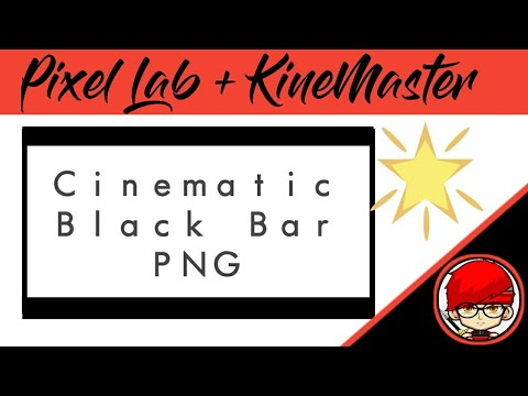 Cinematic Black Bar PNG.