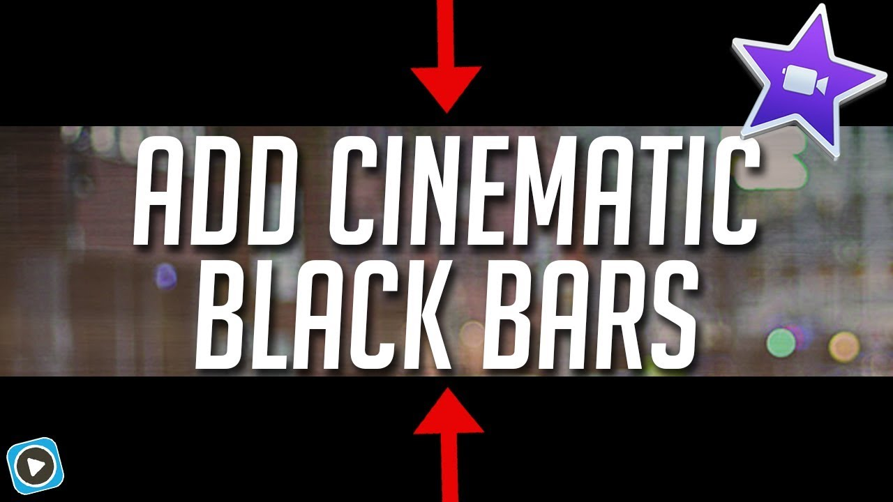 Add Black Bars In iMovie.