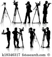 Cinematographer Clipart Vector Graphics. 345 cinematographer EPS.