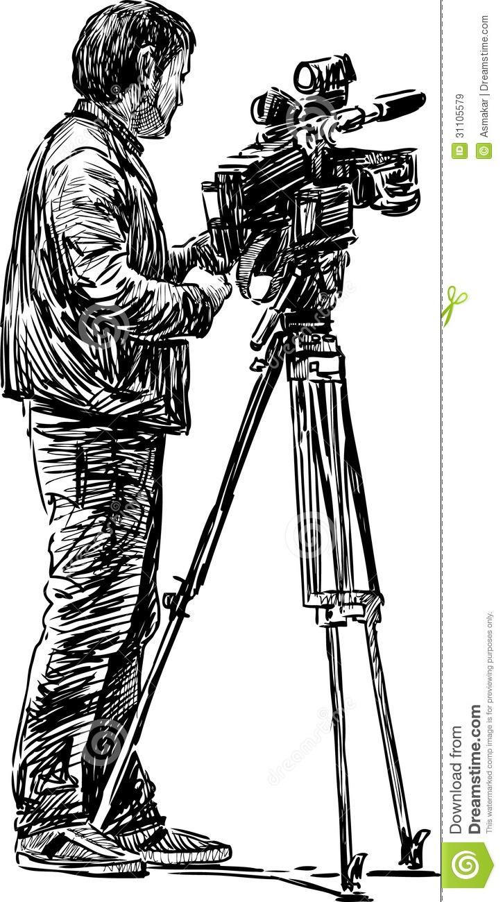 Cameraman Royalty Free Stock Images.
