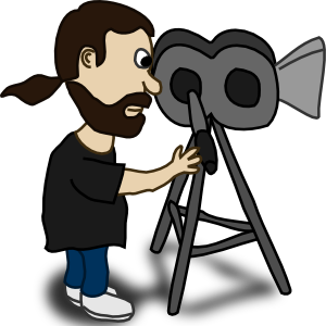 Director of photography clipart.