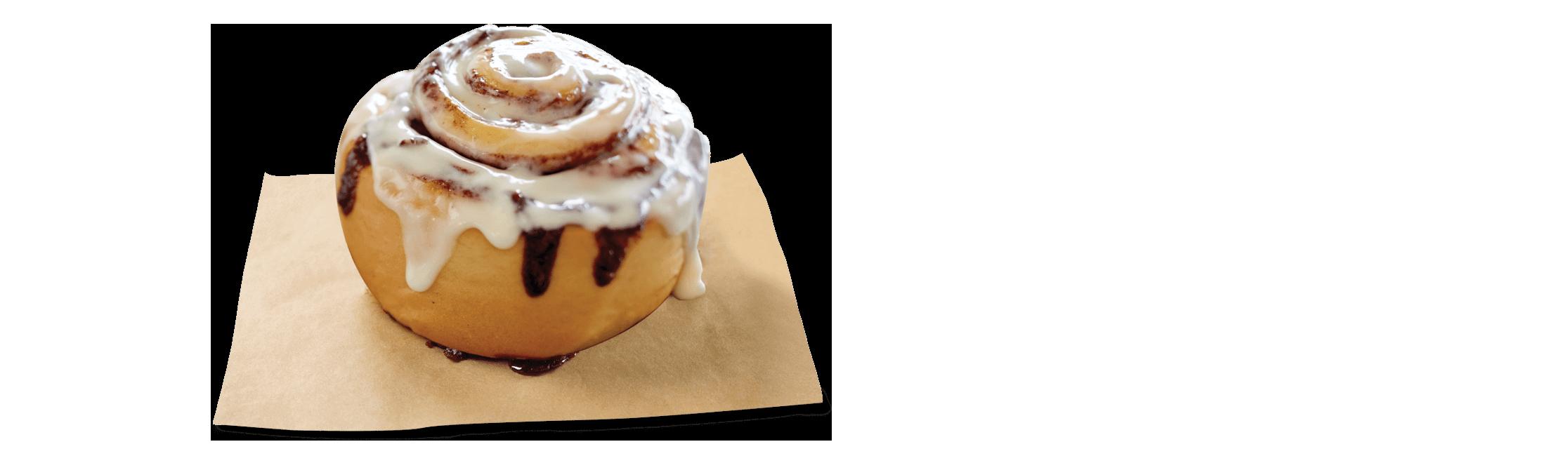 Cinnabon Bakery Menu: Cinnamon Rolls.