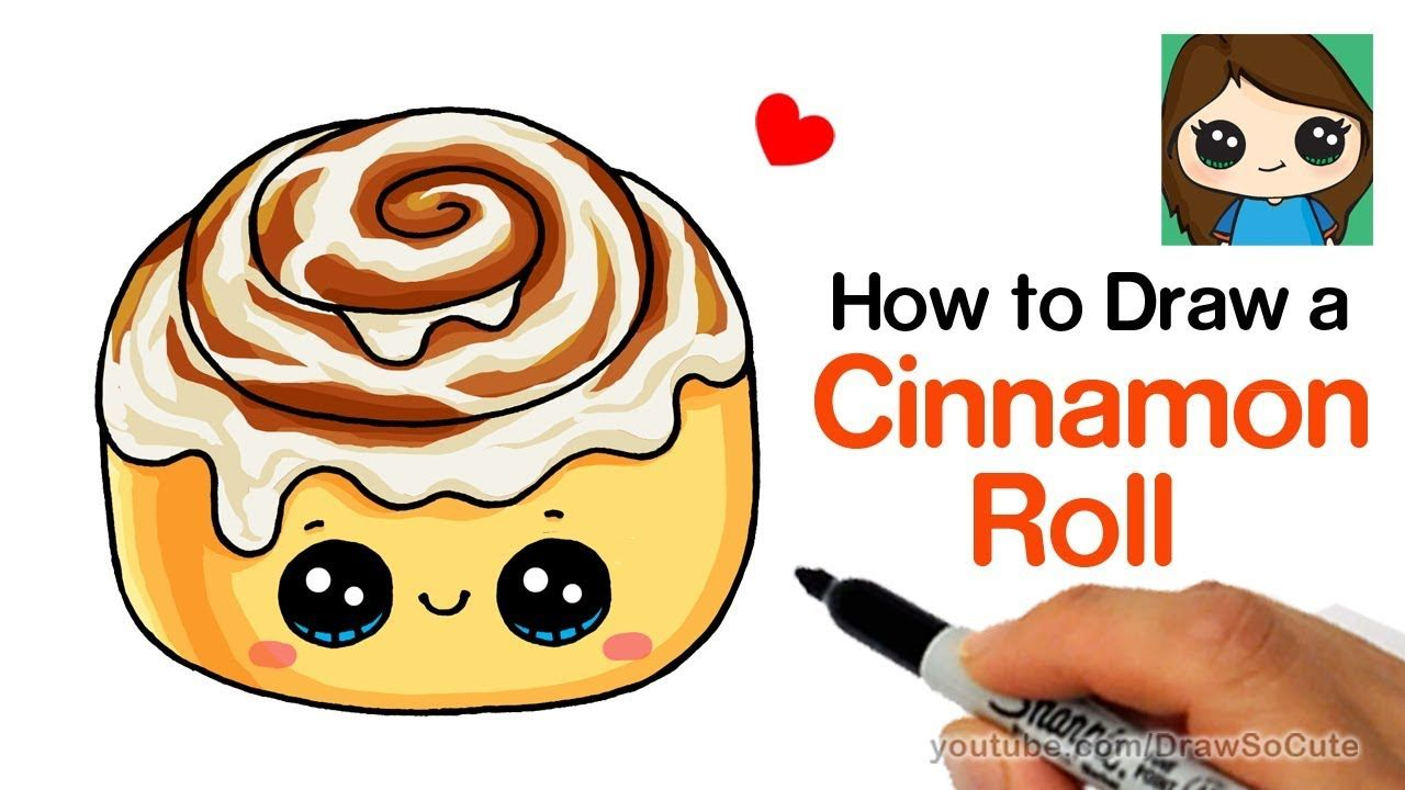 How to Draw a Cinnamon Roll Cute and Easy.