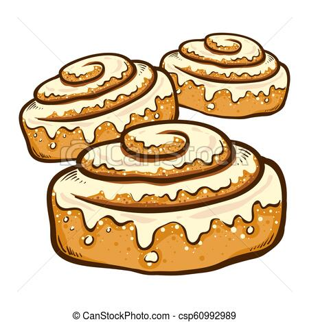 Hand Drawn Cinnamon Rolls.