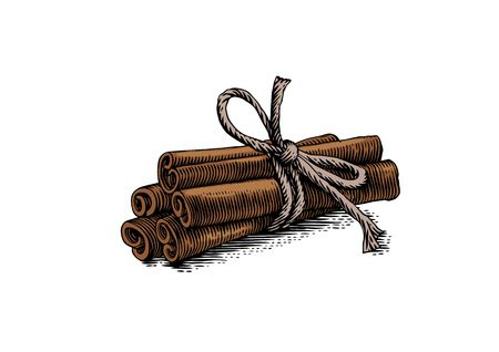 2,056 Cinnamon Stick Stock Vector Illustration And Royalty Free.
