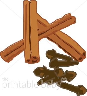 Cinnamon and Cloves Clipart.