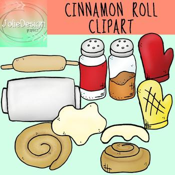 Cinnamon Roll Clip Art.