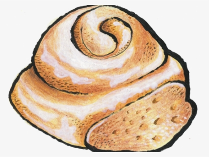 Free Cinnamon Roll Clip Art with No Background.