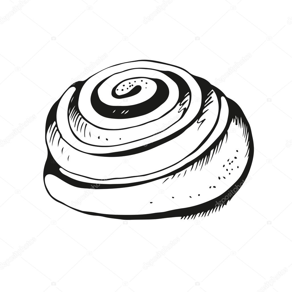Cinnamon roll clipart black and white 6 » Clipart Station.