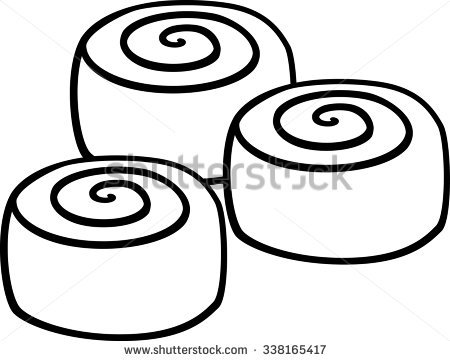 One Cinnamon Roll Clipart.