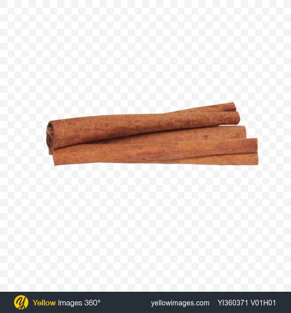 Download Cinnamon Sticks Transparent PNG on Yellow Images 360°.