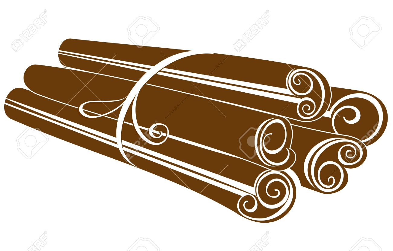 Cinnamon Sticks On White Royalty Free Cliparts, Vectors, And Stock.