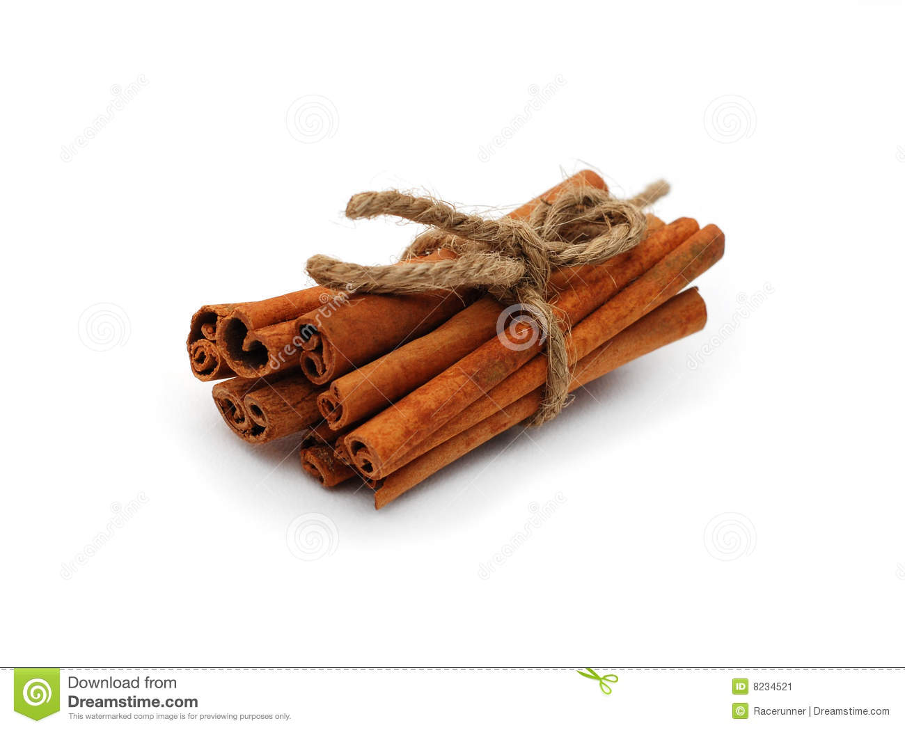Cinnamon Sticks Stock Image.