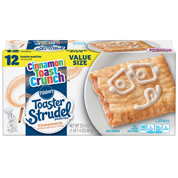 Pillsbury Toaster Strudel Cinnamon Toast Crunch 12 ct, 23.4 oz.