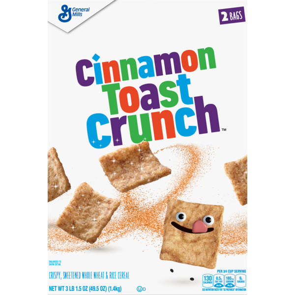General Mills Cinnamon Toast Crunch Breakfast Cereal, Crispy.