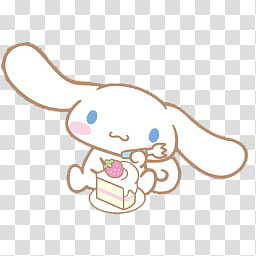 Iconos Cinnamoroll, Cinnamoroll By; MinnieKawaiitutos (), white.