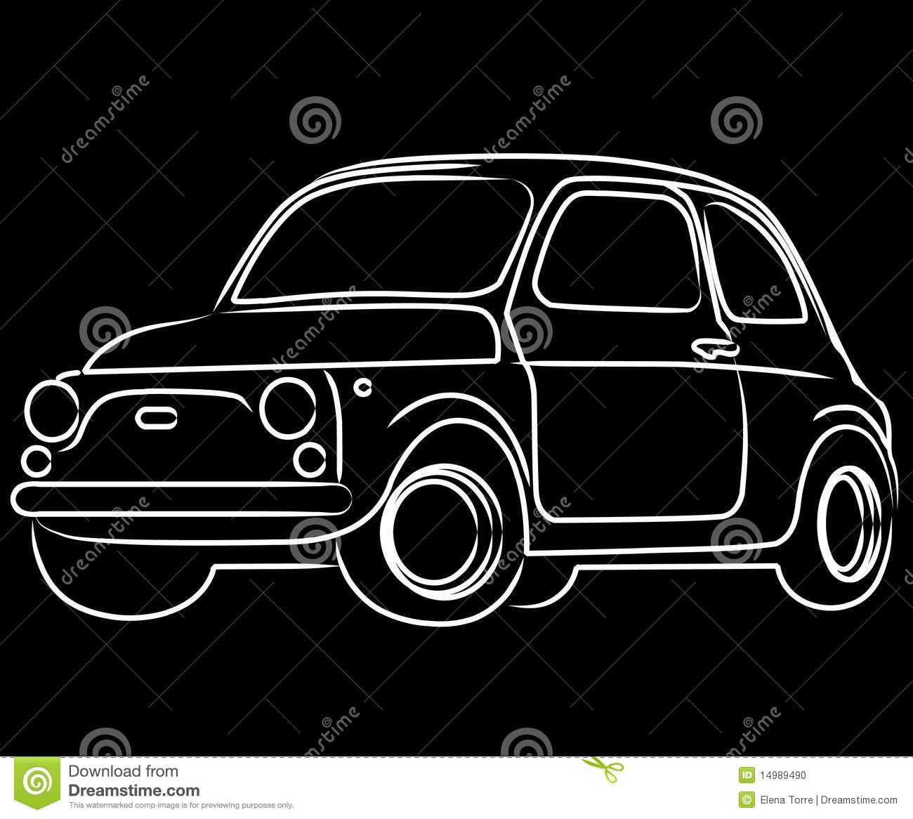 Fiat Cinquecento Car Stock Photo.