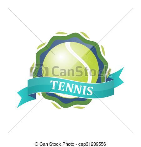 Azul, tenis, etiqueta, vector, cinta, deporte, o, ball., icono..