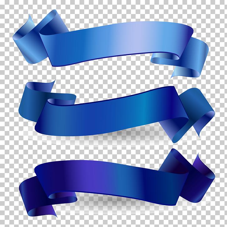 Conciencia cinta cinta azul web banner, cinta azul, tres.