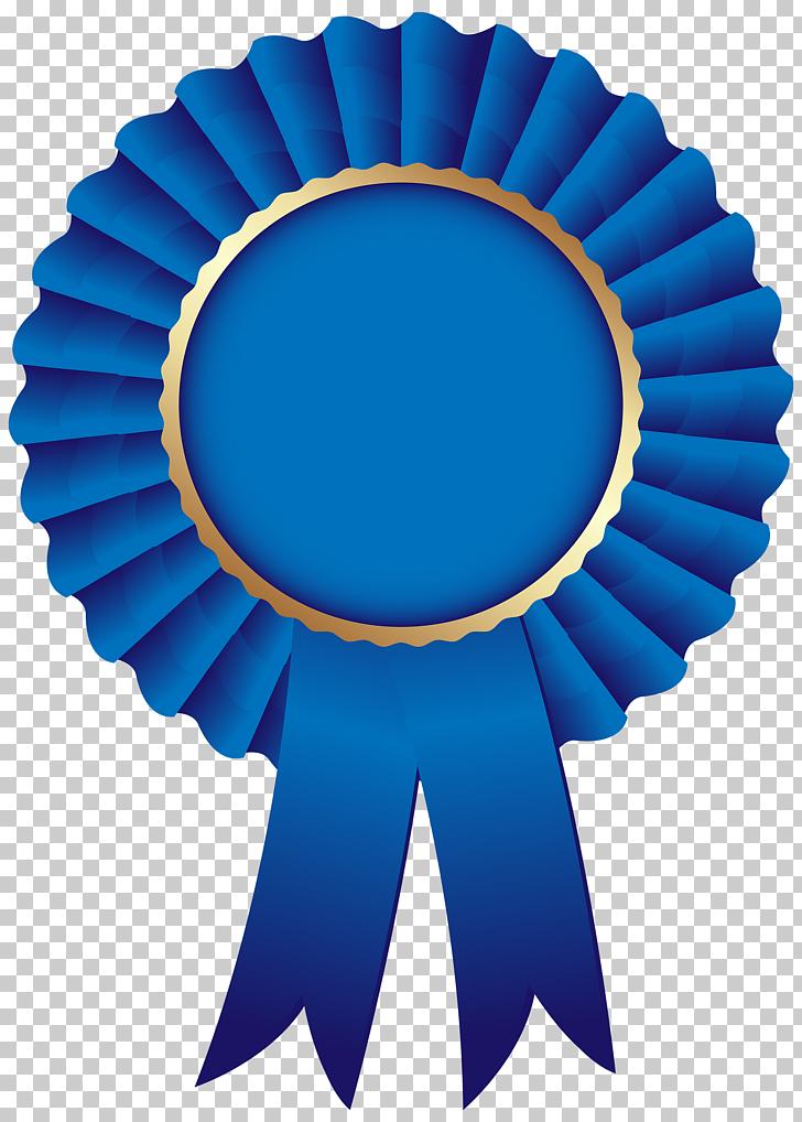 Cinta azul, roseta de cinta azul, cinta de roseta azul PNG.