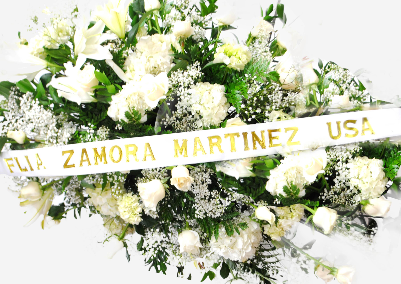 Ribbon Funeral Bouquet.