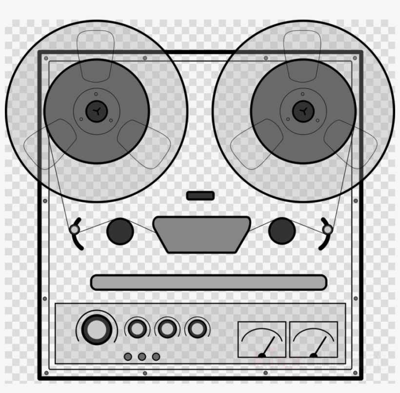 Tape Recorder Vector Clipart Microphone Tape Recorder.