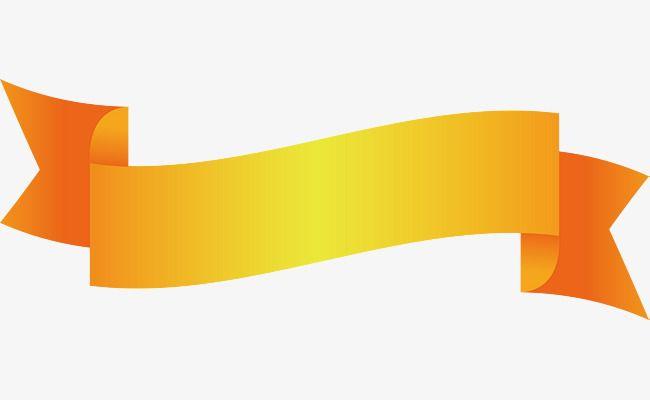 Yellow Ribbon Title Box, Vector Png, Coloured Ribbon, Ribbon PNG and.