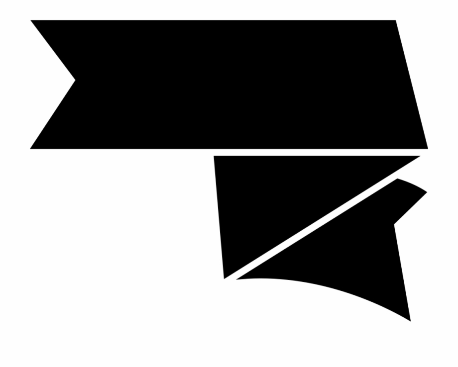 Ribbon Black Shape Icon Free Download Png Svg Png Cinta.