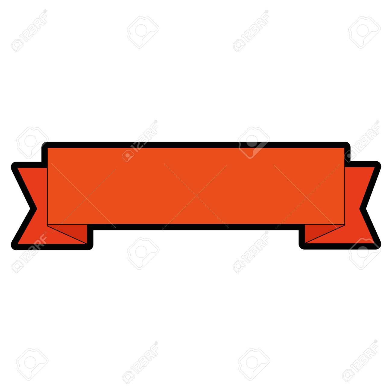 Icono de cinta decorativa sobre ilustración de vector de backgorund blanco.