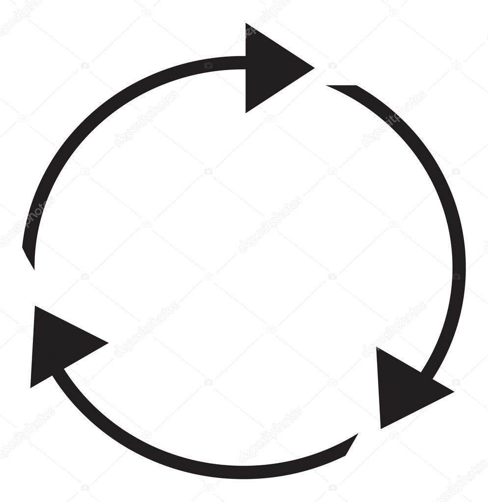 Circular arrows clipart illustration — Stock Vector © kozzi2 #109056280.