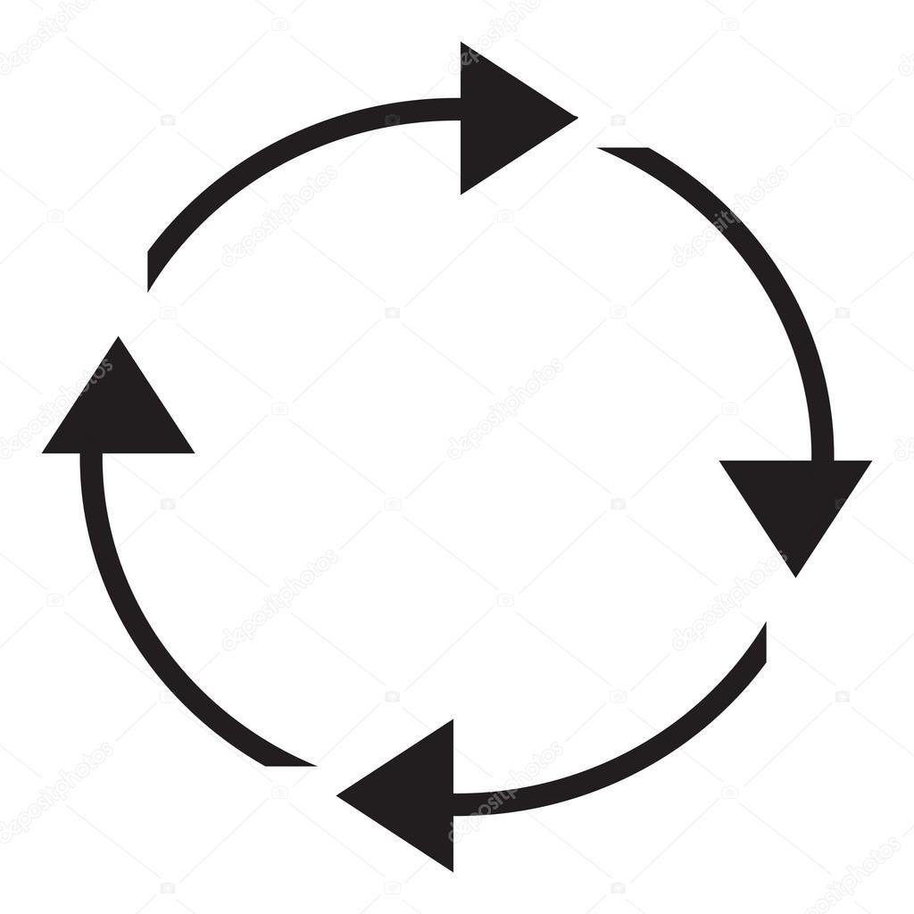 Circular arrows clipart illustration — Stock Vector © kozzi2 #109056524.