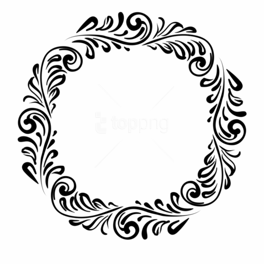 Border Round Design Png Free PNG Images & Clipart Download #1546269.