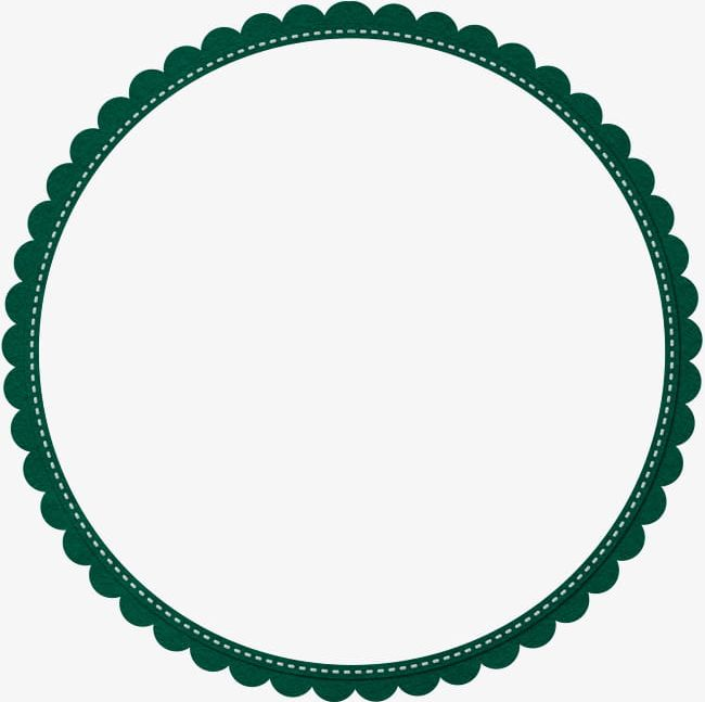 Green Simple Lace Circle Border Texture PNG, Clipart, Border, Border.