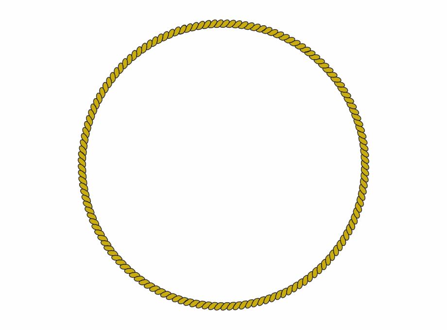 Rope Circle Border Clip Art.