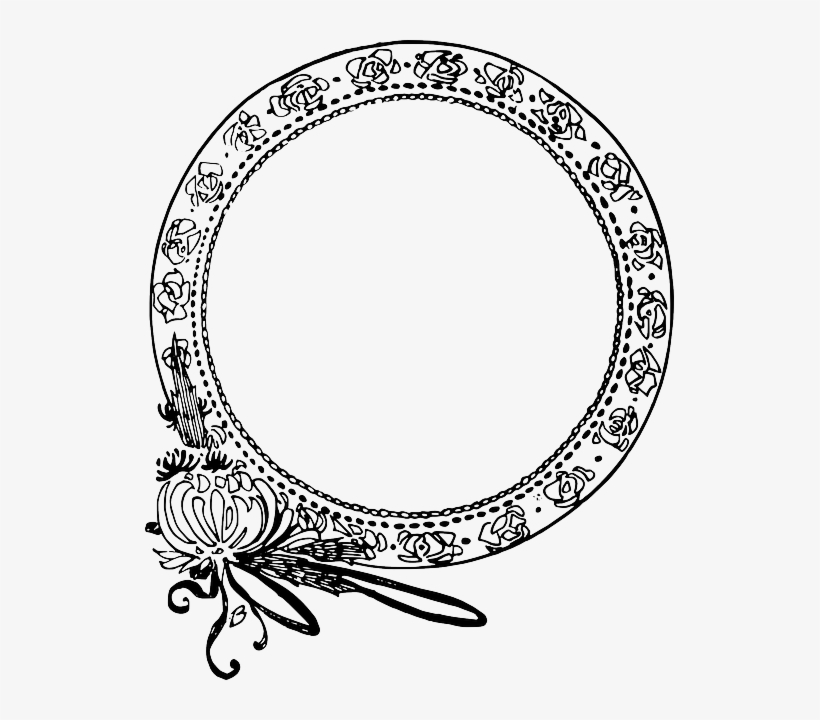 Circle, Decorative, Flower, Frame.